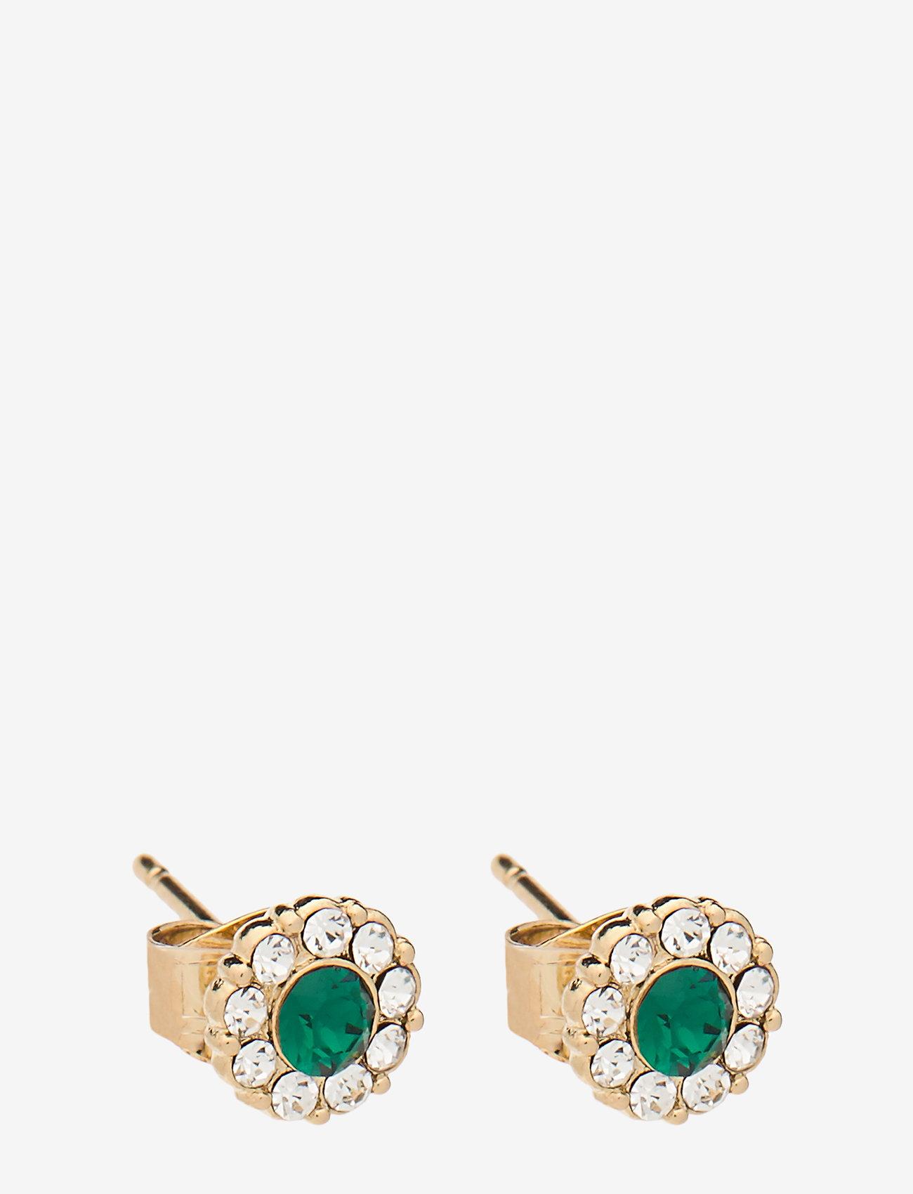 LILY AND ROSE - Petite Miss Sofia earrings - Emerald - nappikorvakorut - emerald