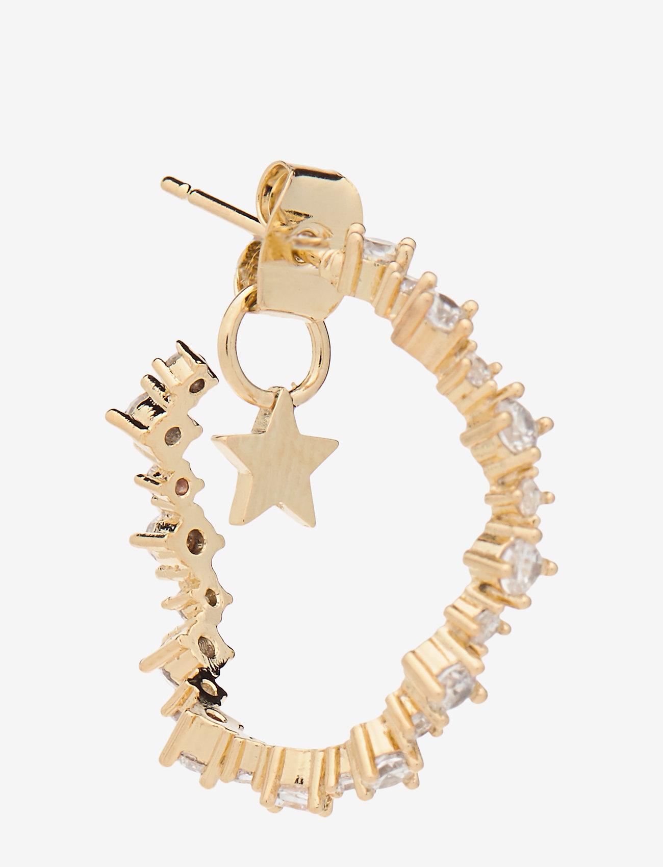 LILY AND ROSE - Capella hoops earrings - Crystal - korvarenkaat - crystal