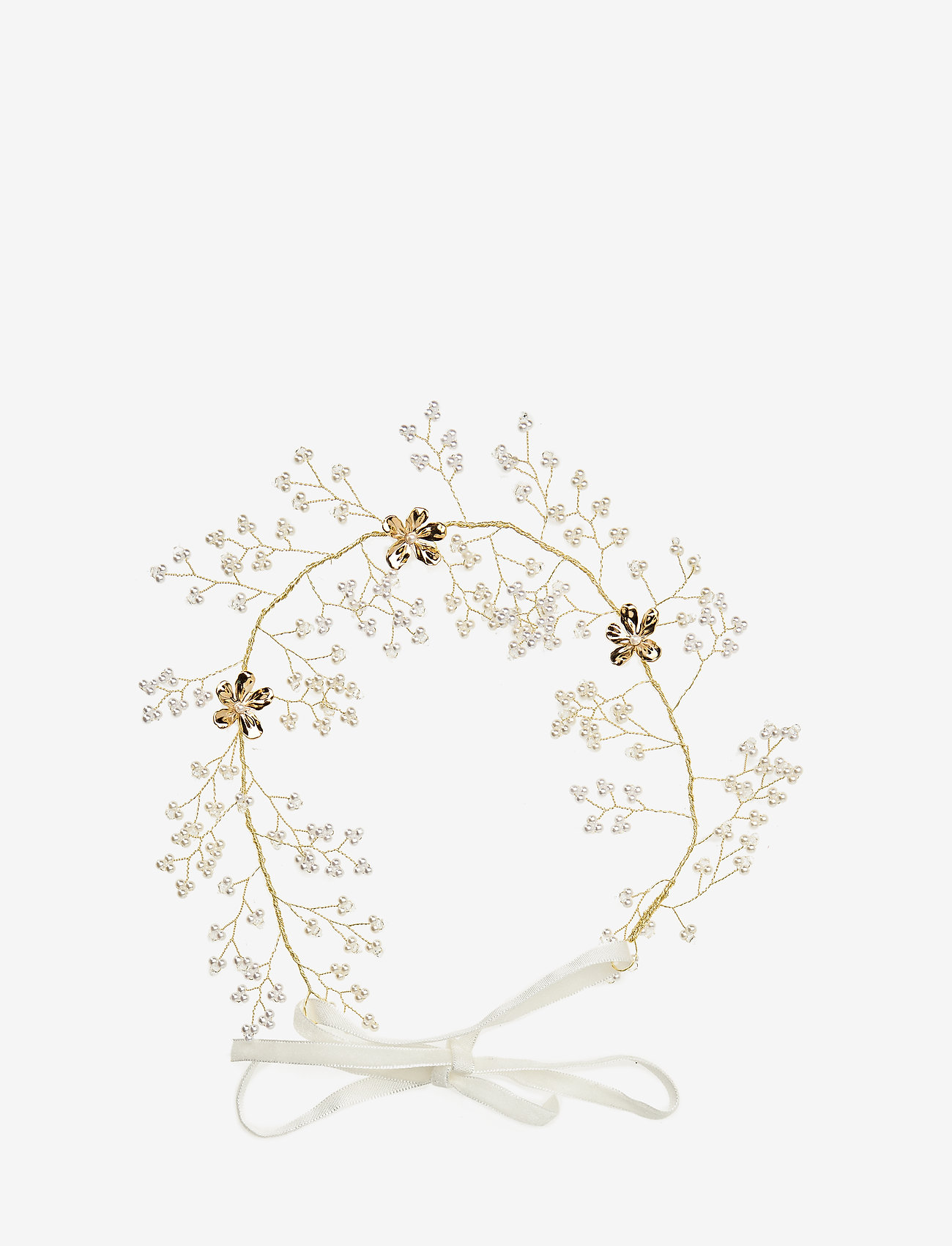 LILY AND ROSE - Leonore hairpiece - Ivory (Gold) - hiusasusteet - ivory