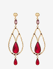 LILY AND ROSE - Garbo earrings - Scarlet - statement - scarlet - 0
