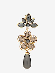 LILY AND ROSE - Aurora pearl earrings - Black pearl - statement - black pearl - 1