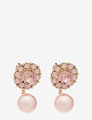 LILY AND ROSE - Miss Sofia butterfly earrings - Vintage rose opal - studs - vintage rose opal - 0