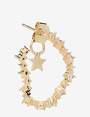 LILY AND ROSE - Capella hoops earrings - Crystal - korvarenkaat - crystal - 0
