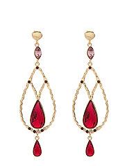 Garbo earrings - Scarlet - SCARLET