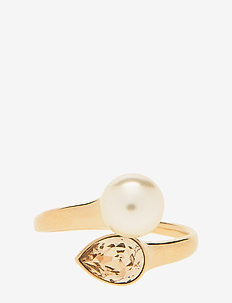Ella pearl ring - Ivory (Gold) - rings - ivory