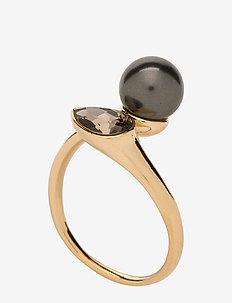 Ella ring - Black pearl - pierścionki - black pearl
