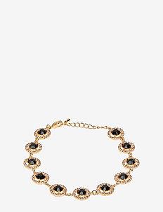 Miranda bracelet - Jet (Gold) - JET