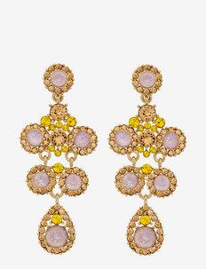 Kate earrings - statement - autumn rose