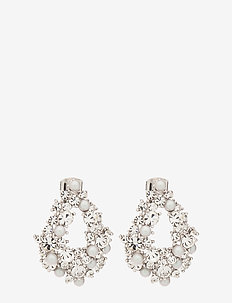 Alice pearl earrings - Dove grey - DOVE GREY
