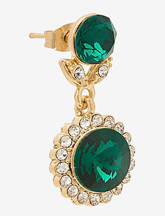 Jessie earrings - Emerald - oorhangers - emerald