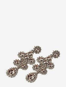 Miss Kate earrings - Silk (Silver) - pendant - silk
