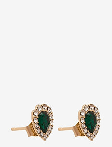 Amelie earrings - Emerald - stud oorbellen - emerald