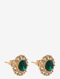 Miss Sofia earrings - Emerald - stud oorbellen - emerald