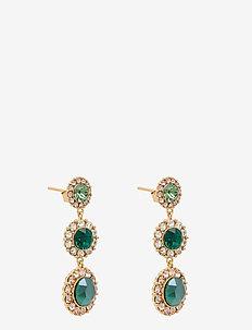 Sienna earrings - Royal green / Emerald - oorhangers - royal green / emerald