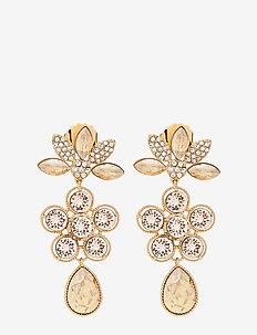 Aurora earrings - Golden shadow - statement - golden shadow
