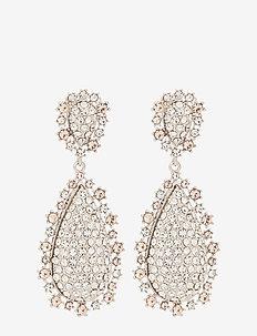 Macy earrings - Crystal (Silver) - pendant - crystal