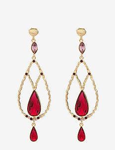 Garbo earrings - Scarlet - SCARLET