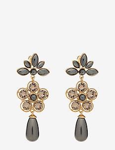 Aurora pearl earrings - Black pearl - statement - black pearl