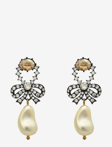 Antionette pearl earrings - roikkuvat korvakorut - creme