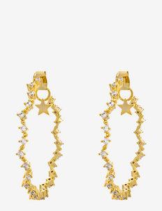 Mrs Capella earrings - Crystal - hoops - crystal