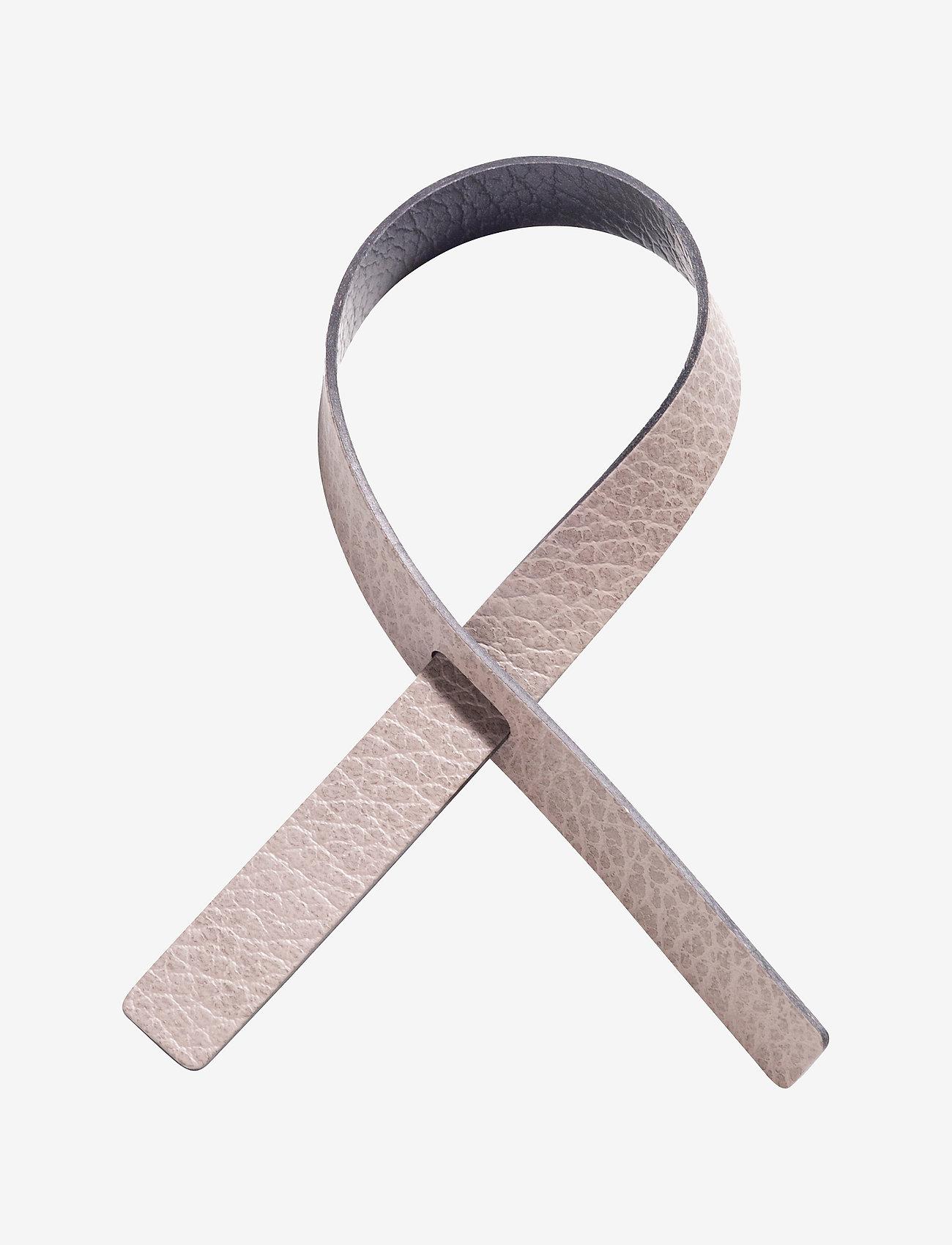 LIND DNA - Loop 4 Pcs. - serviettringer & serviettholdere - warm grey & black - 0