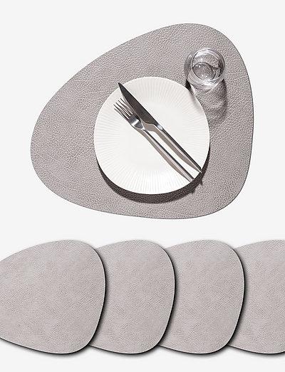 4-Set Table Mat Curve L Hippo - bordbrikker - anthracite-grey