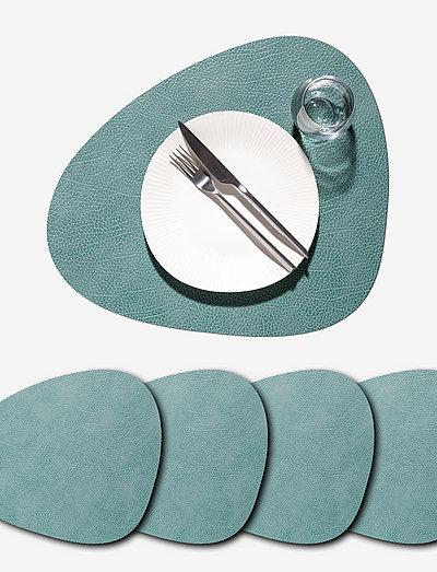 4-Set Table Mat Curve L Hippo - bordbrikker - pastel green