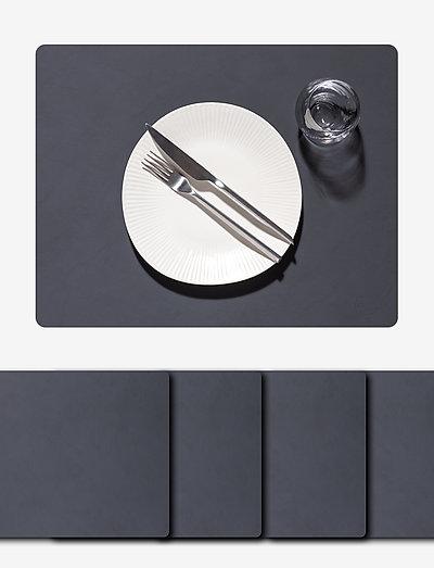 4-Set Table Mat Square L Nupo - bordbrikker - anthracite