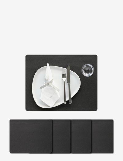 4-Set Table Mat Square L Core - bordbrikker - flecked anthracite