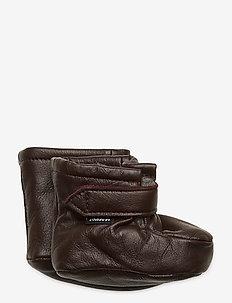 TOSSA WOOL - slippers - dark brown