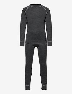 MERINO SET, JUNIOR - underwear sets - anthracite