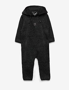 BORMIO BABYOVERALL - fleece - black