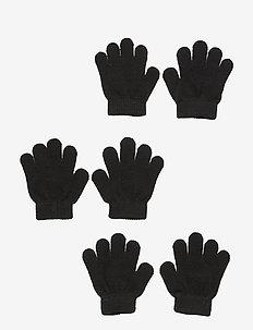 ÅSBRO GLOVE, 3-PACK - gloves - black