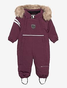 COLDEN BABY OVERALL - vintertøj - plum
