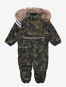 CAMO BABY OVERALL - shell coveralls - green