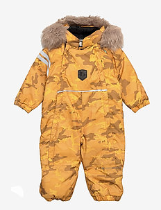 CAMO BABY OVERALL - shell coveralls - yellow