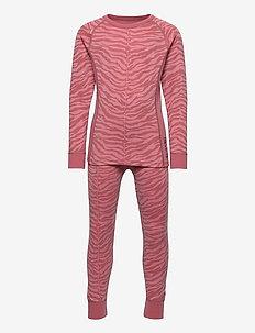 PRINT MERINO SET - undertøysett - blush