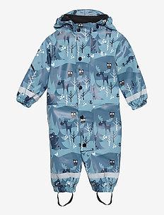 HALMSTAD RAIN BABY OVERALL FLEECE - ensembles - blue