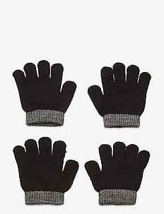 SUNDSVALL WOOL GLOVE, 2-P - moufles - black/anth