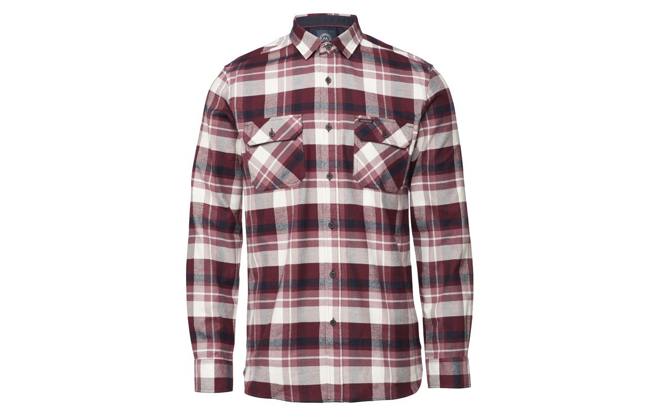 s Lindbergh Bordeaux Shirt L Brushed Check qqxpngtA