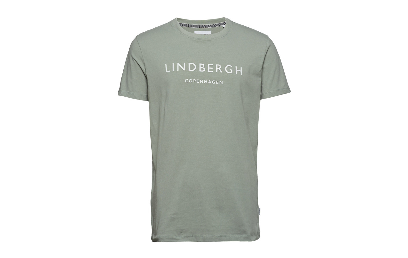 White Mens Lindbergh Crew Printed Tee neck BxzZSq