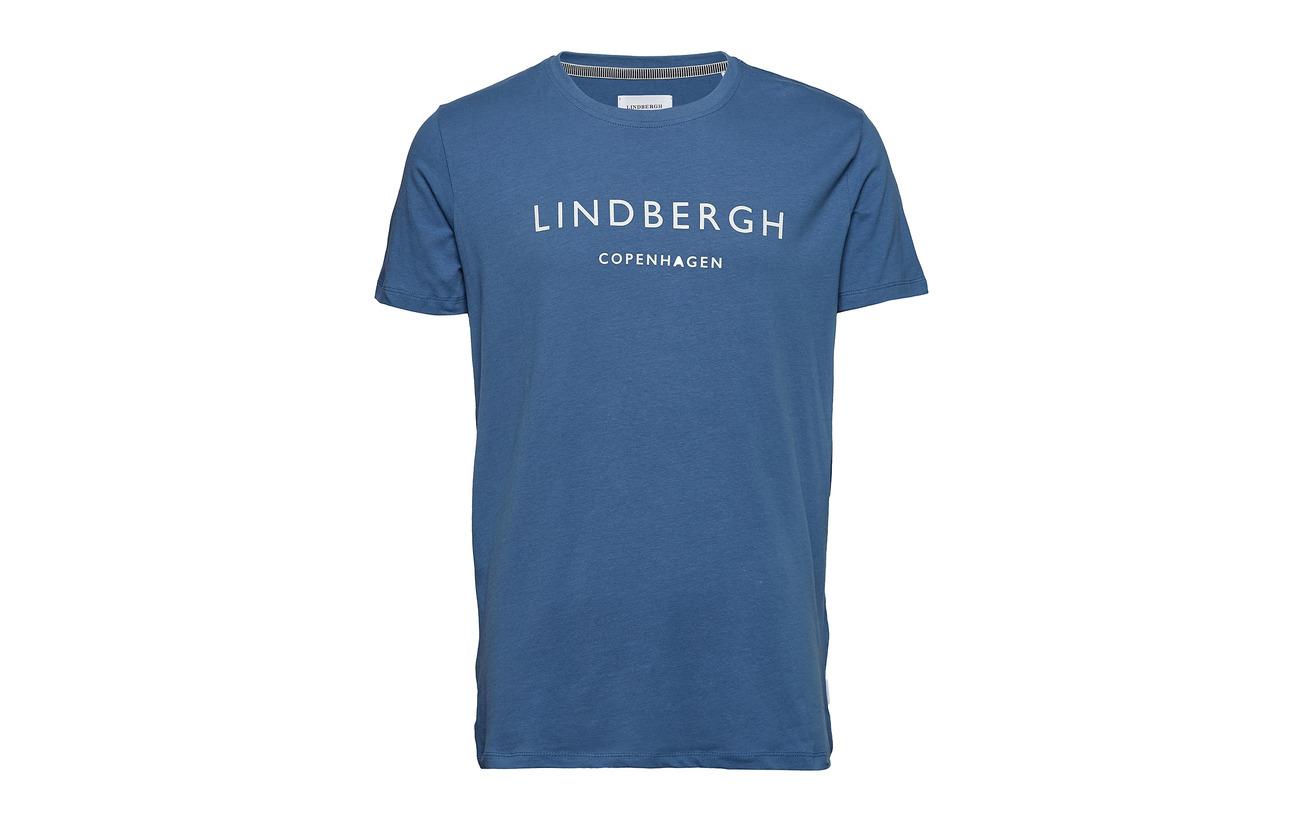 Black Printed Crew neck Lindbergh Mens Tee 8qwgx7Ua