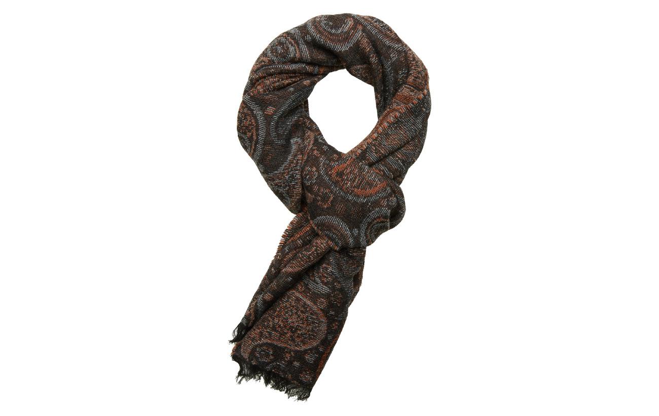Lindbergh Paisley jacquard scarf - BROWN