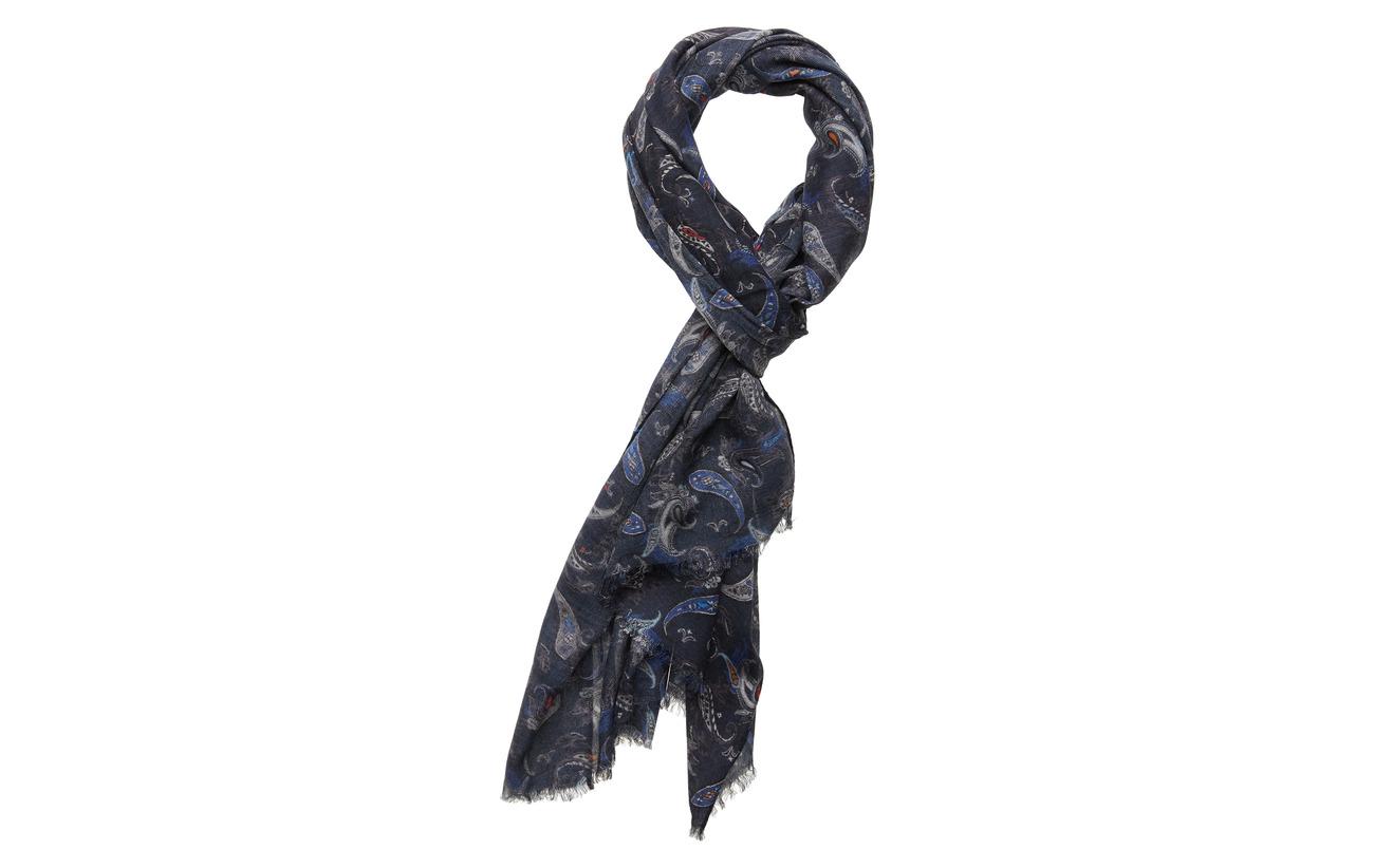 Lindbergh Paisley scarf - NAVY