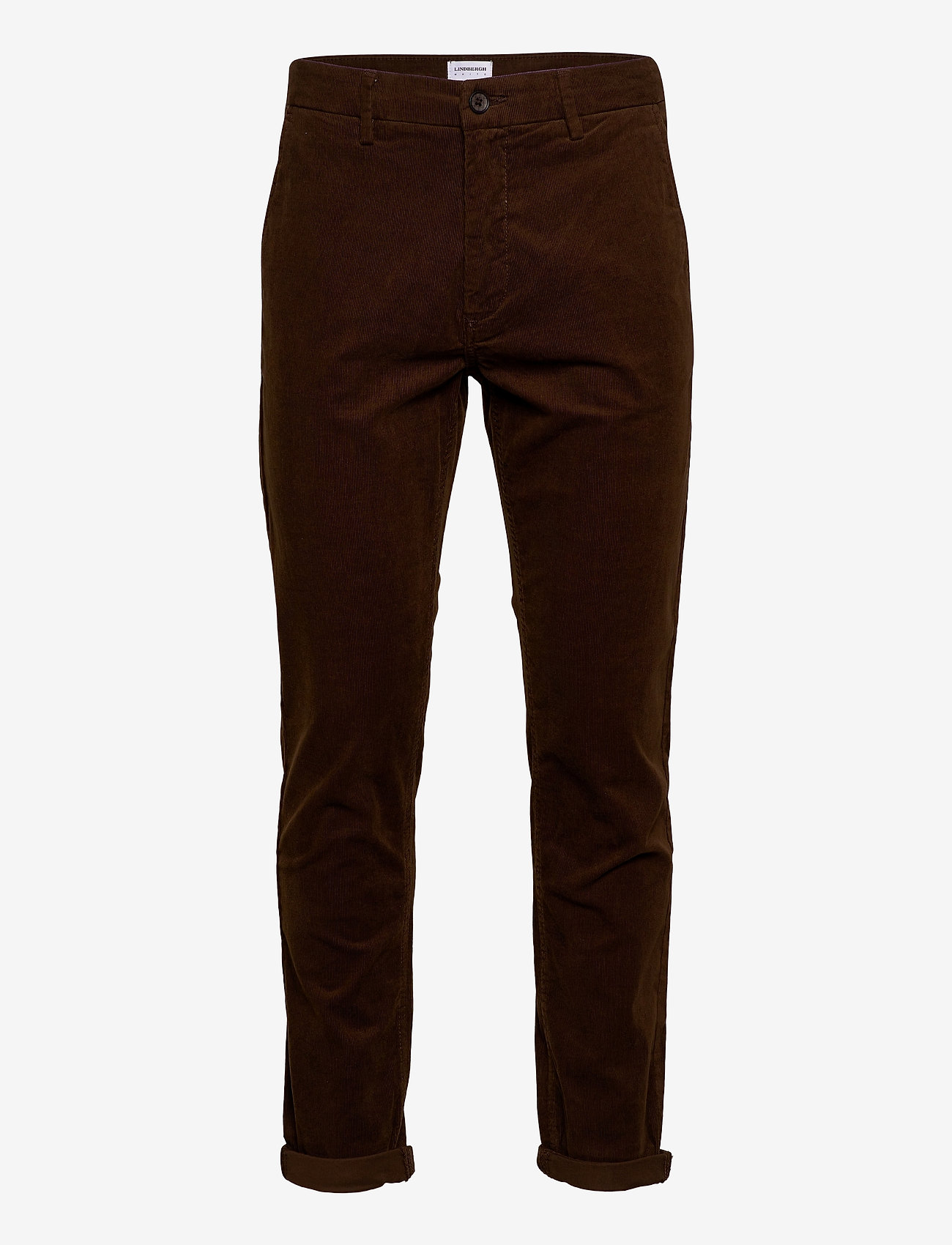 Lindbergh - Corduroy slim fit pants - rennot - brown - 0