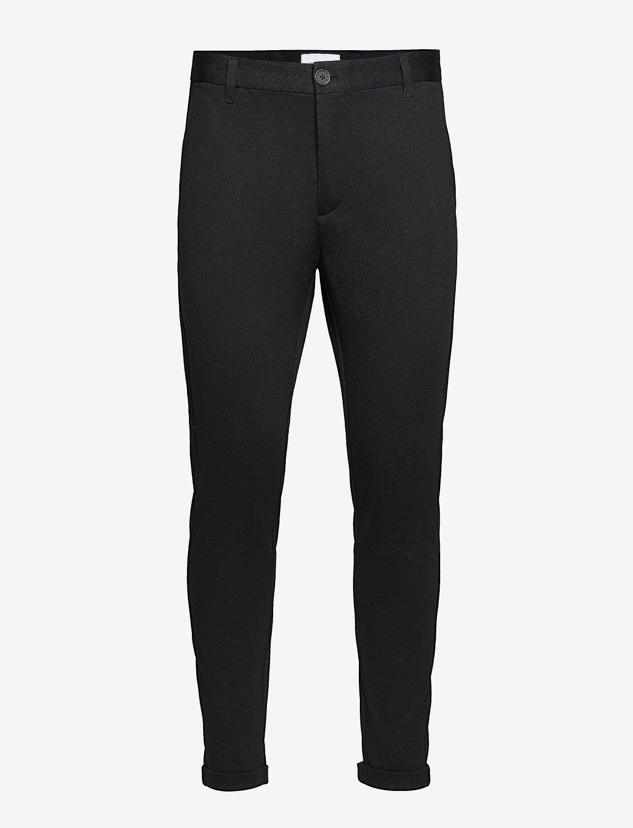 Lindbergh - Superflex knitted cropped pant - puvunhousut - black - 1
