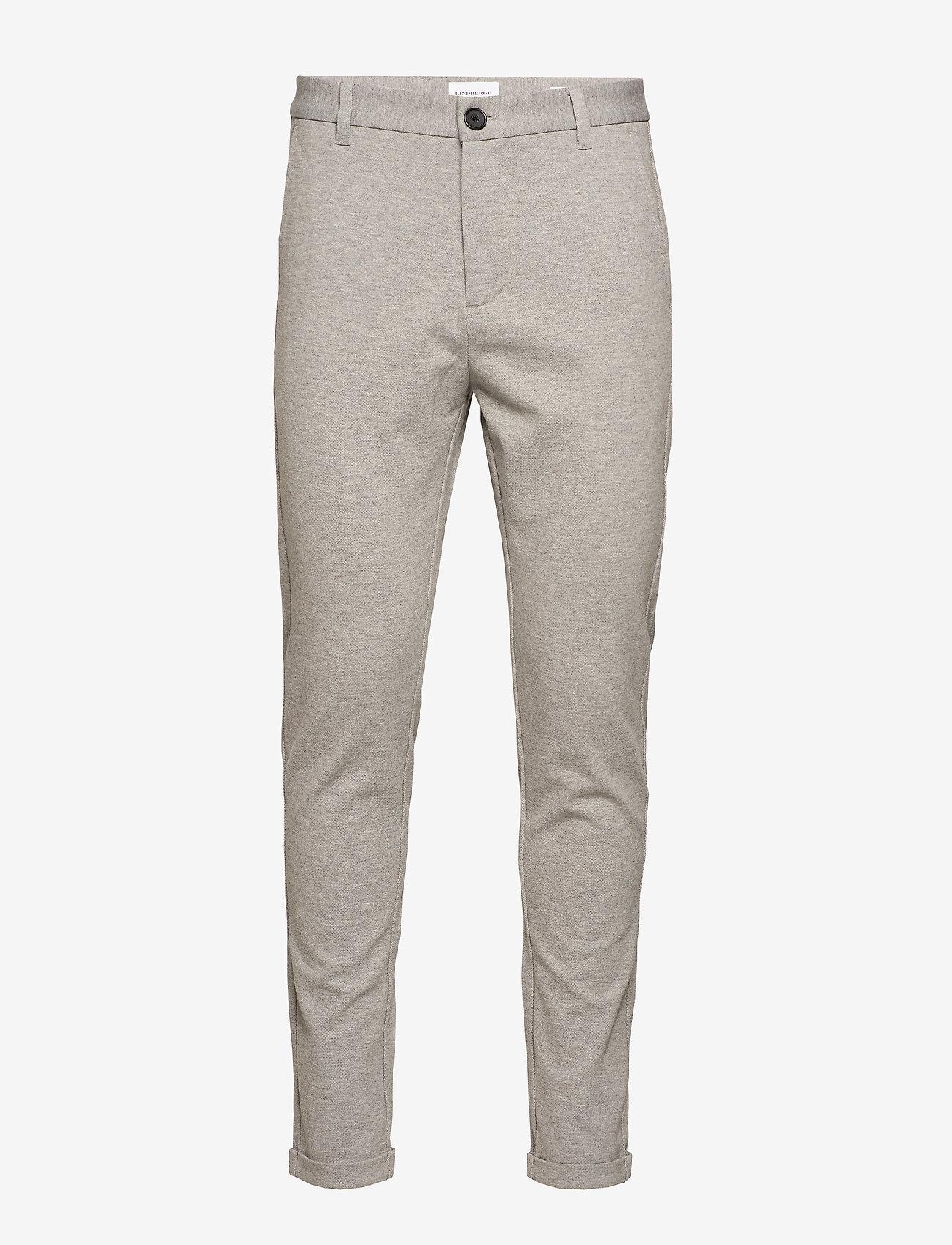 Lindbergh - Knitted pants normal length - spodnie na co dzień - lt grey mix - 0