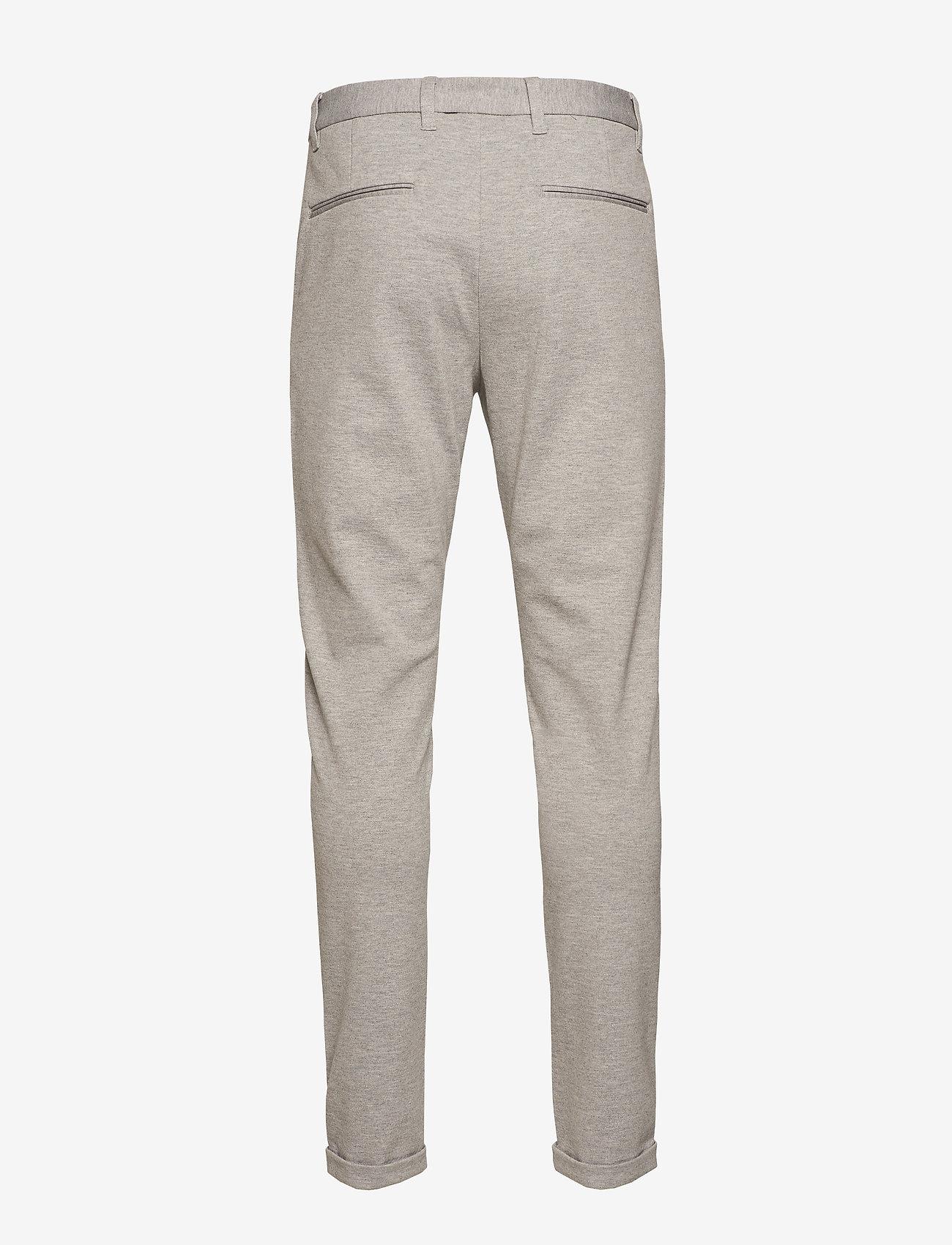 Lindbergh - Knitted pants normal length - spodnie na co dzień - lt grey mix - 1