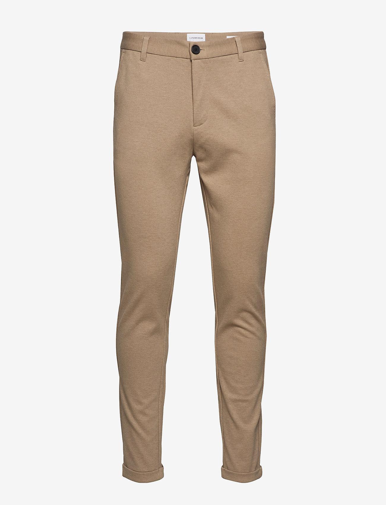 Lindbergh - Knitted pants normal length - spodnie na co dzień - lt sand mix - 0