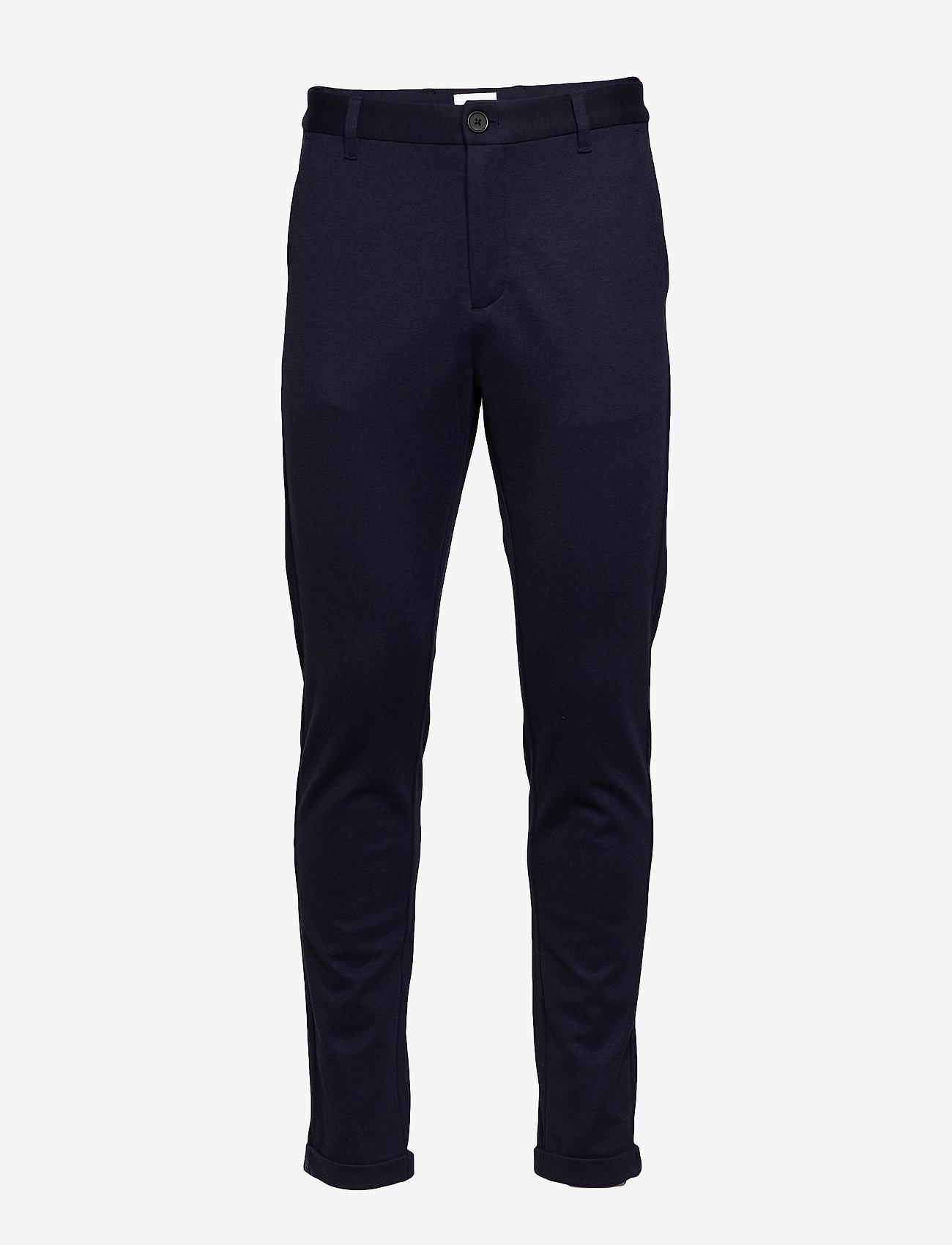 Lindbergh - Knitted pants normal length - spodnie na co dzień - navy mix - 1